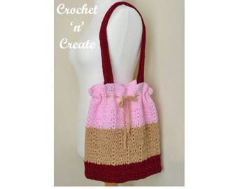 Market Tote Bag Crochet Pattern (DOWNLOAD) CNC77