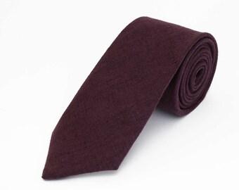 Purple Necktie For Wedding / Necktie For Groomsmen / Purple Pocket Square With Necktie / Purple Men's Necktie / Purple Bow tie For Men