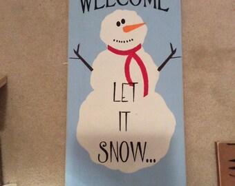 Snowman sign - Snowman - Christmas sign - Christmas decor - Snowman - Winter sign - Holiday decor - Christmas gift idea - Holiday gift idea