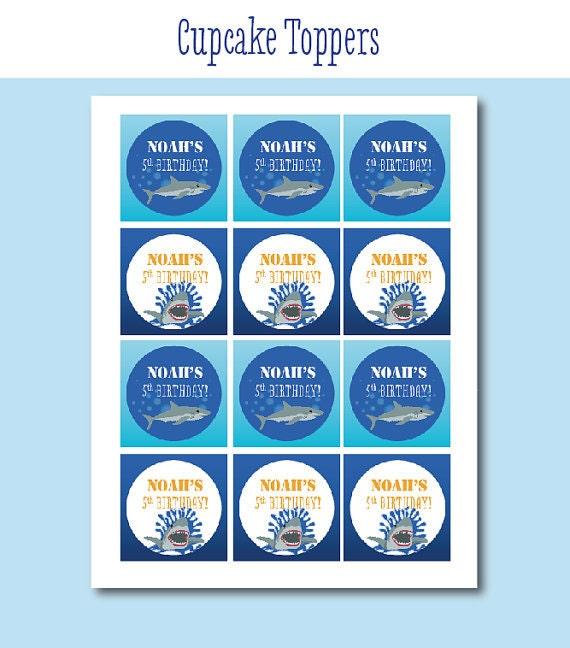 recipe: shark cupcake topper [30]