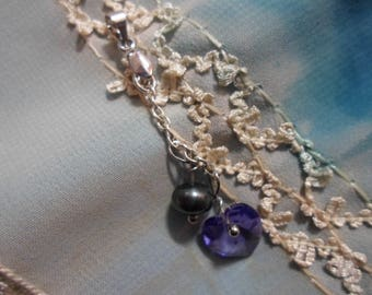 Love with a purple heart and a Freshwater Pearl