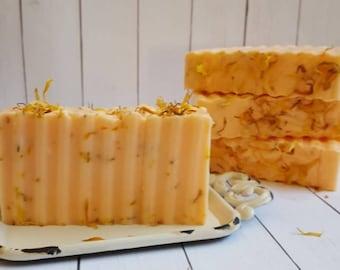Sweet Orange Shea Butter Soap w/Calendula Petals