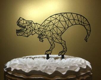 T-Rex Cake Topper, Dinosaur Cake Topper, Geometric Dinosaur, Birthday Cake Topper, Dinosaur Birthday Cake Topper, Geometric Dinosaur Topper