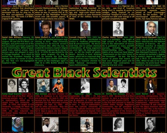 Black History Month Poster, Black Scientists Poster,  Black Inventors,