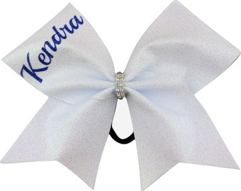 Your Name Custom Glitter Cheer Bow You Choose Color