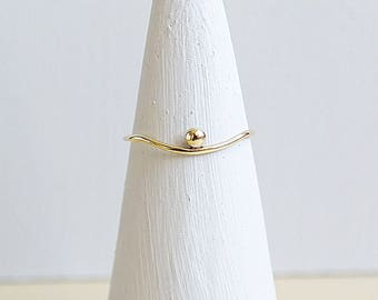 Gold Ring, Solid Gold Ring, Dainty Ring, Gold Stacking Ring, Gold Jewelry, Boho Ring, 9ct Gold Ring, 9ct Gold Band, Gold Wedding Band