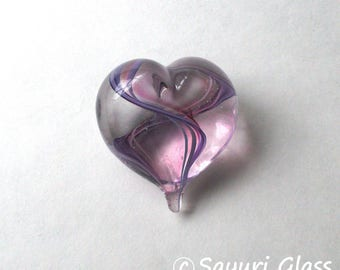 Mini Heart Paperweight Purple Pink : DISASTER RELIEF