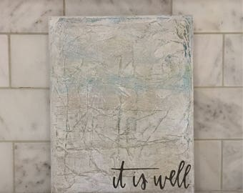 """It is Well Abstract Painting 8"""" x 10"""" 