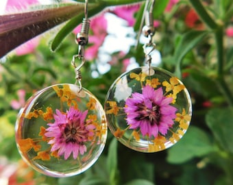 Round Floral Earrings