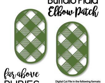 Checkerboard elbow patches svg dxf png jpg digital cut file for buffalo plaid check elbow patch svg dxf png jpg digital cut file for silhouette or cricut maxwellsz