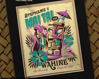 Personalized Mai Tai Pah Print