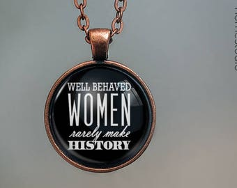 History Quote jewelry. Pendant, Necklace or Keychain Key Ring. Perfect Gift Present. Glass dome phrase words charm HomeStudio