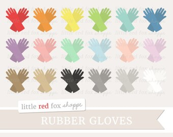 Rubber Gloves Clipart, Cleaning Glove Clip Art Clean Kitchen Dish Scrub Bathroom House Icon Cute Digital Graphic Design Small Commercial Use