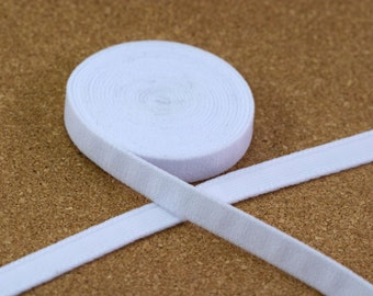 """1 Yard 3/8"""" White Plush Underwire Channeling / Casing for Bra Making DYEABLE 11mm Bra Making"""