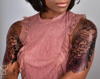 Rose of Sharon Large Temporary Tattoo Set