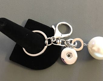 Pearl Single Snap Keychain