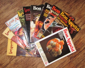 BON APPETIT 10 Back Issue Magazines 1970, 1974, 1975, 1976, 1977 Recipes Cooking