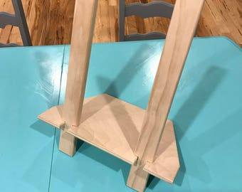 Portable Tabletop Easel, Unfinished