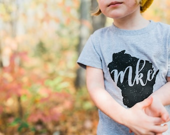 Milwaukee Toddler // MKE // Wisconsin Shirt // Milwaukee Shirt // Kid's Tee // Milwaukee Gift // Wisconsin Gift // The Busy Bee
