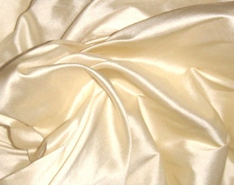 "Pure Silk Dupion Shantung in CHAMPAGNE Fabric available by the half metre 137 cm (54"") Wide"