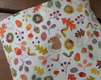 Reusable sandwich bags - Reusable snack bag - Fabric snack bag -  Eco friendly reusable bags -  Waste free lunch bags - Autumn