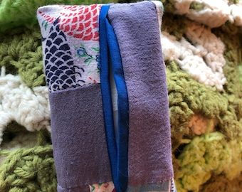 Kleenex Cozy - Tissue Pouch made from Vintage Quilt top