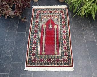Anatolian Rug, Turkish Rug, FREE SHIPPING Turkish Handmade Decorative Soft Wool Rug, Boho Rug, Turkish Oushak Rug, 1.9 x 3.4 No 1012