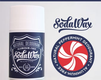 Peppermint Aluminum-Free Natural Deodorant by SodaWax