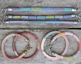 10 Bead Crochet Patterns using Slip Stitch Bead Crochet - Designer Series Bead Crochet Bracelet Patterns