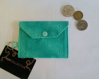 Credit Card Wallet / Card Wallet / Card Wallet / Green Wallet / Pouch / Keyring / Key Ring / Wallet /  Key Chain / Purse / Key Chain Wallet