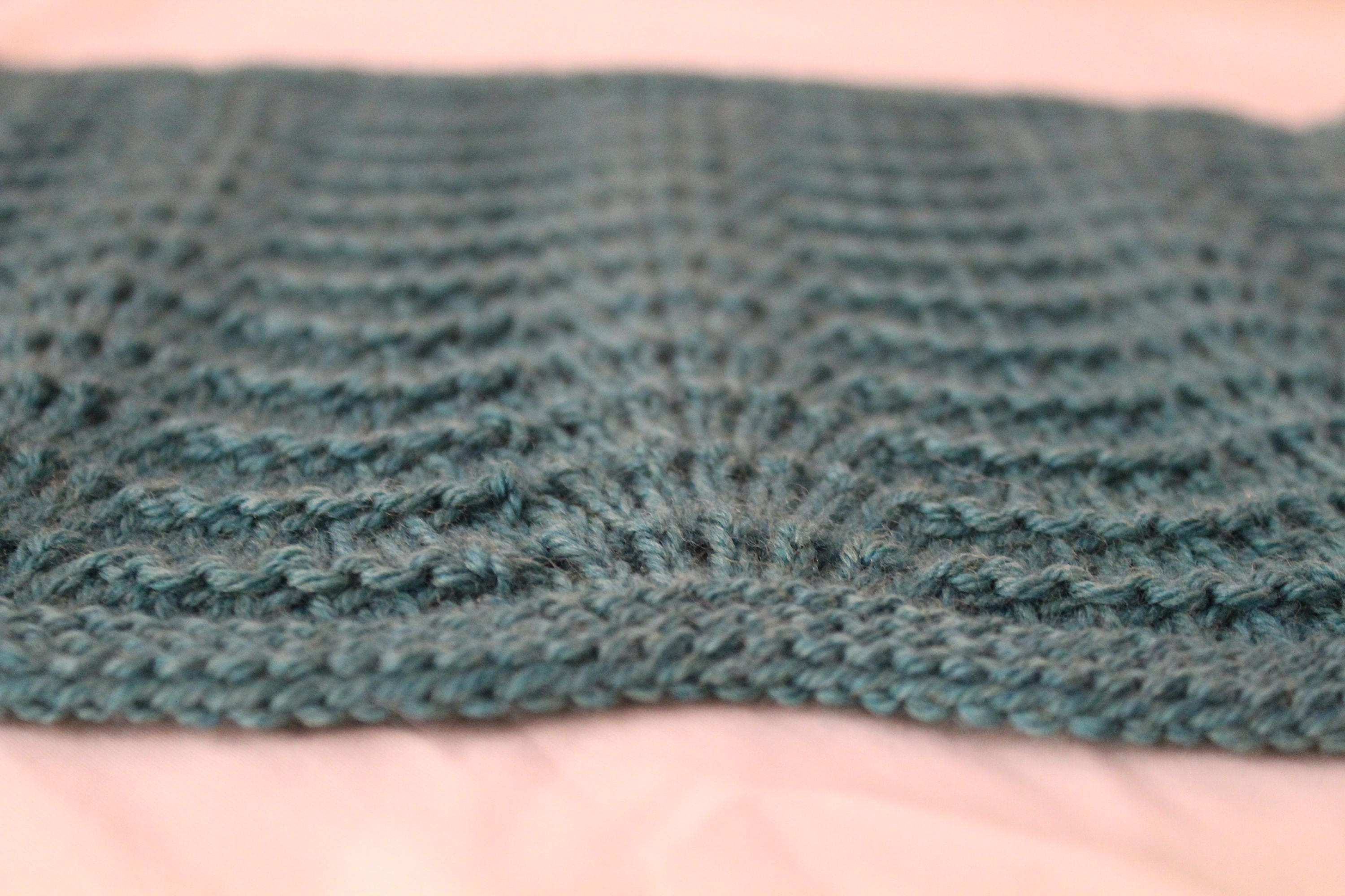 Lace Waves Knit Throw Blanket Pattern, Lace Knit Square Pattern ...