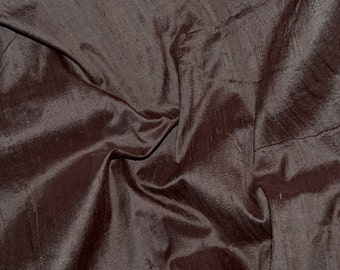 Silk Dupioni in  Chocolate Brown , Fat Quarter- D 50