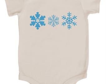 Snowflakes Baby Bodysuit