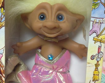Vintage Ace Novelty Co. Wishstone Treasure Troll ~Mermaid~