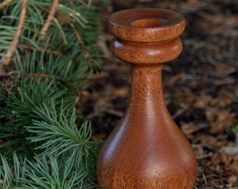 Mahogany wood candleholder, reclaimed Mahogany candle holder, wedding candle holder, wooden candle holder