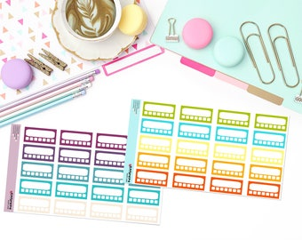 HABIT TRACKING (multiple colors available!) Paper Planner Stickers