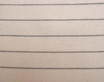 Stripe Natural Grey Fabric