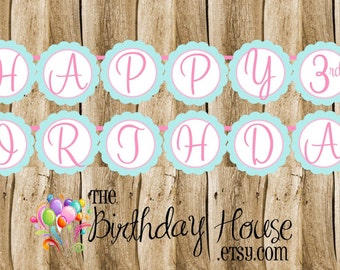 Cinderella & Friends Party - Custom Cinderella Party Banner by The Birthday House