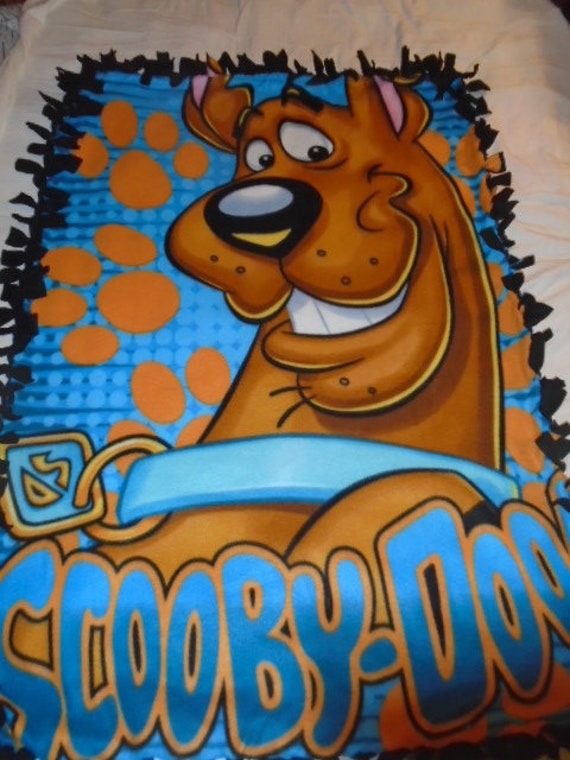 Scooby Doo Double Sided Hand Tied Fleece Rag Blanket
