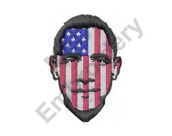 Barack Obama President - Machine Embroidery Design