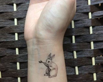 little bunny temporary tattoo stickers