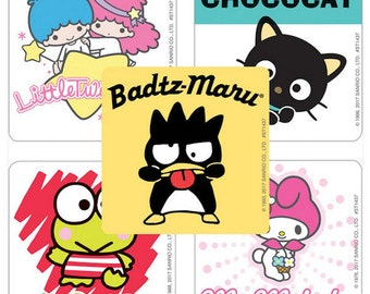 25 Sanrio Friends Stickers Party Favor Supplies Decoration Envelope Seals Scrapbooking Keroppi Chococat My Melody