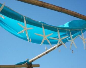 Starfish Garland  (White Pencil Starfish) - Beach Weddings/Beach Cottage/Coastal Home Decorations
