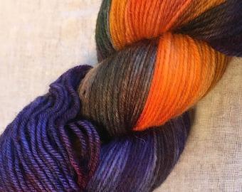 Rainbow Coloured  4ply Sock Wool/Nylon Yarn