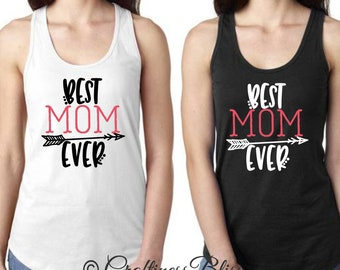 Best Mom Ever Mother's Day Next Level Women's Racerback Tank Top