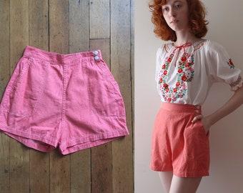 vintage 1950s shorts // 50s high waisted pinup shorts