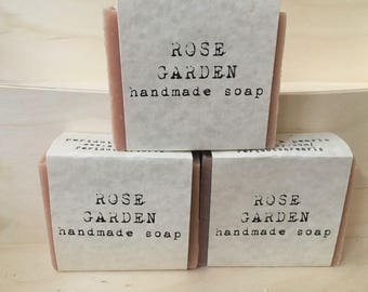 Rose Garden Cold Processed Handmade Soap