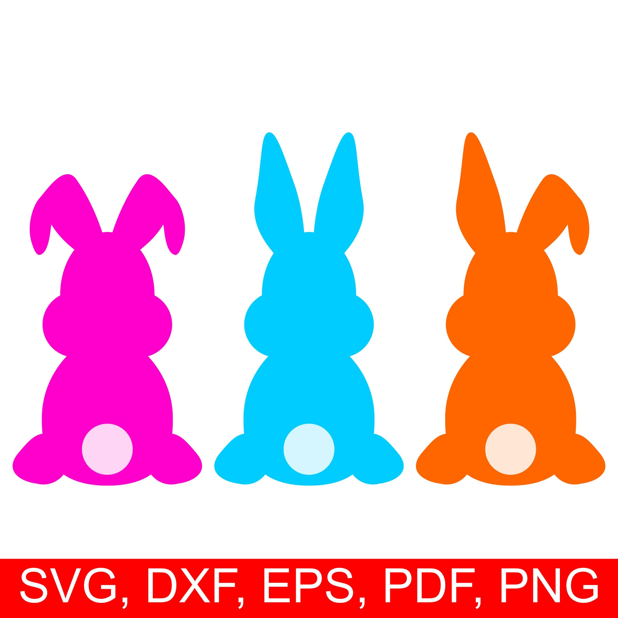 Easter Bunny Svg Cut File And Easter Rabbit Clipart Set