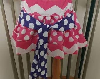 Polka Dot Chevron Skirt size 2T