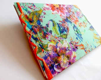 Sketchbook with Art and flowers pattern or Travel Journal Journal MADE BY ORDER